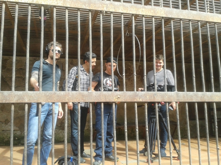 Our Crew in the Monkey's Cage